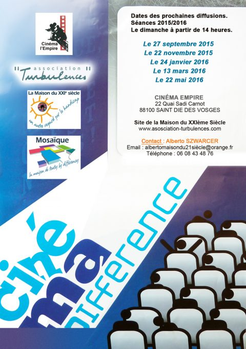 Ciné-ma différence : Programme 2015-2016