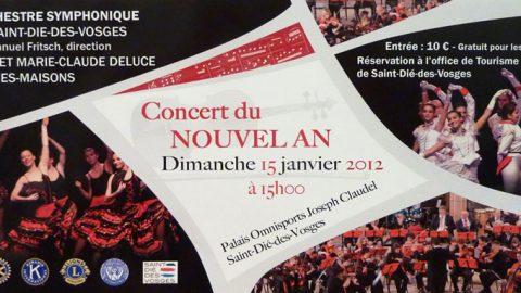 1000 personnes au concert du Nouvel An !