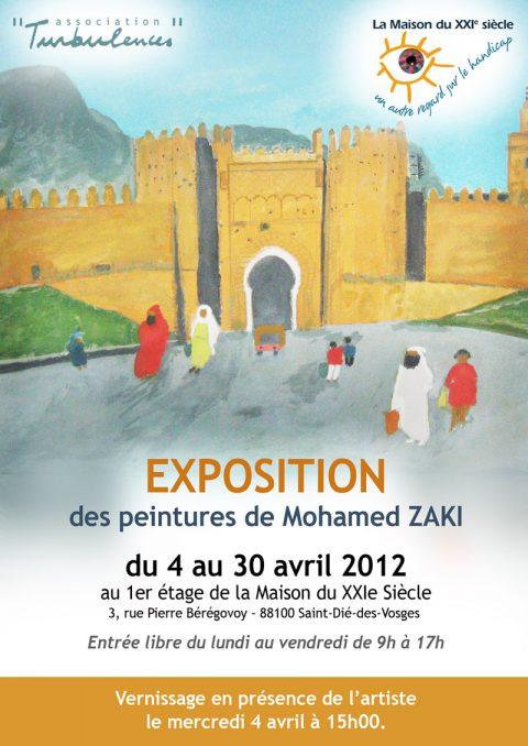 Vernissage de l'exposition de Mohamed Zaki à La Maison du XXIe siècle