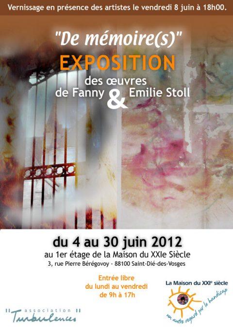 Vernissage de l'exposition de Fanny et Emilie Stoll
