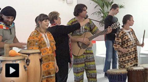 Africarel, Cham's et Zakopane à l'inauguration de Mosaïque