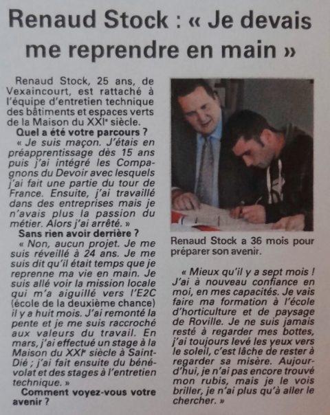 Signature du premier «contrat emploi d'avenir» en Déodatie