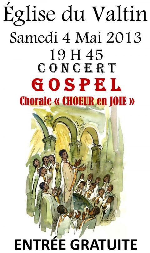 Concert Gospel à l'église du Valtin la 4 mai