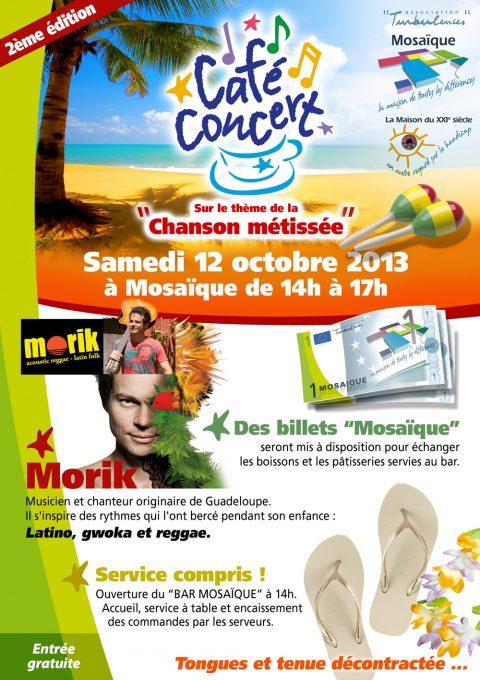2ème « Café-concert Mosaïque » sur le thème de la chanson métissée le samedi 12 octobre à 14h00