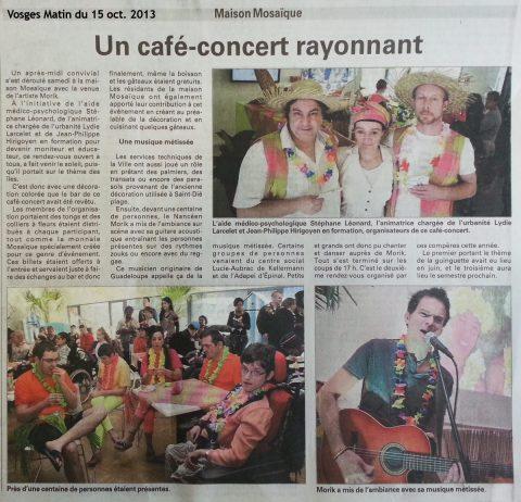 Les images du 2ème « Café-concert Mosaïque » du 12 octobre 2013
