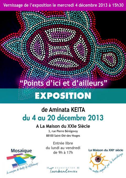 Exposition de Aminata KEITA à La Maison du XXIe siècle