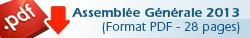 Assemblée Générale 2013 | PDF 28 pages