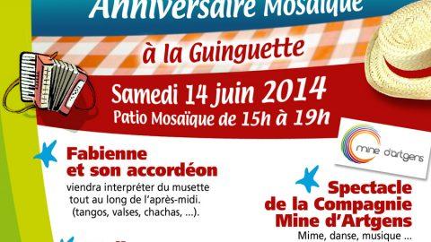 Images de l'après-midi «Guinguette» à l'occasion de l'anniversaire de Mosaïque le 14 juin 2014