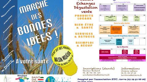 Prochain «Marché des Bonnes Idées» le 18 juin de 16h à 20h à Mosaïque