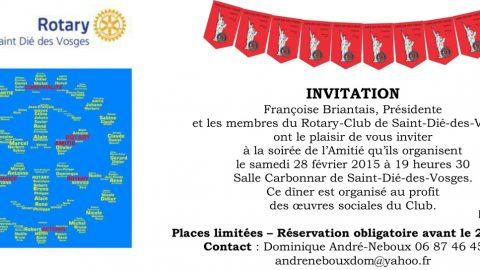 Soirée de l'Amitié organisée par le Rotary-Club de Saint Dié des Vosges
