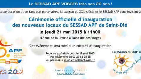 Inauguration des nouveaux locaux du SESSAD APF de Saint-Dié le 21 mai