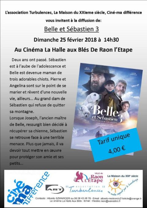 Ciné-Ma Différence «Belle et Sébastien 3»